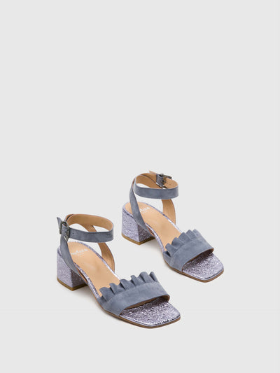 Perlato Purple Buckle Sandals