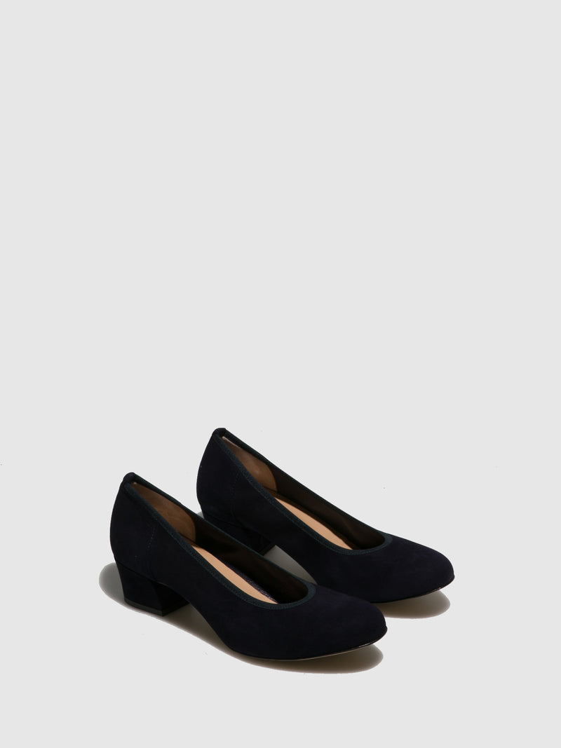 Perlato Blue Round Toe Shoes
