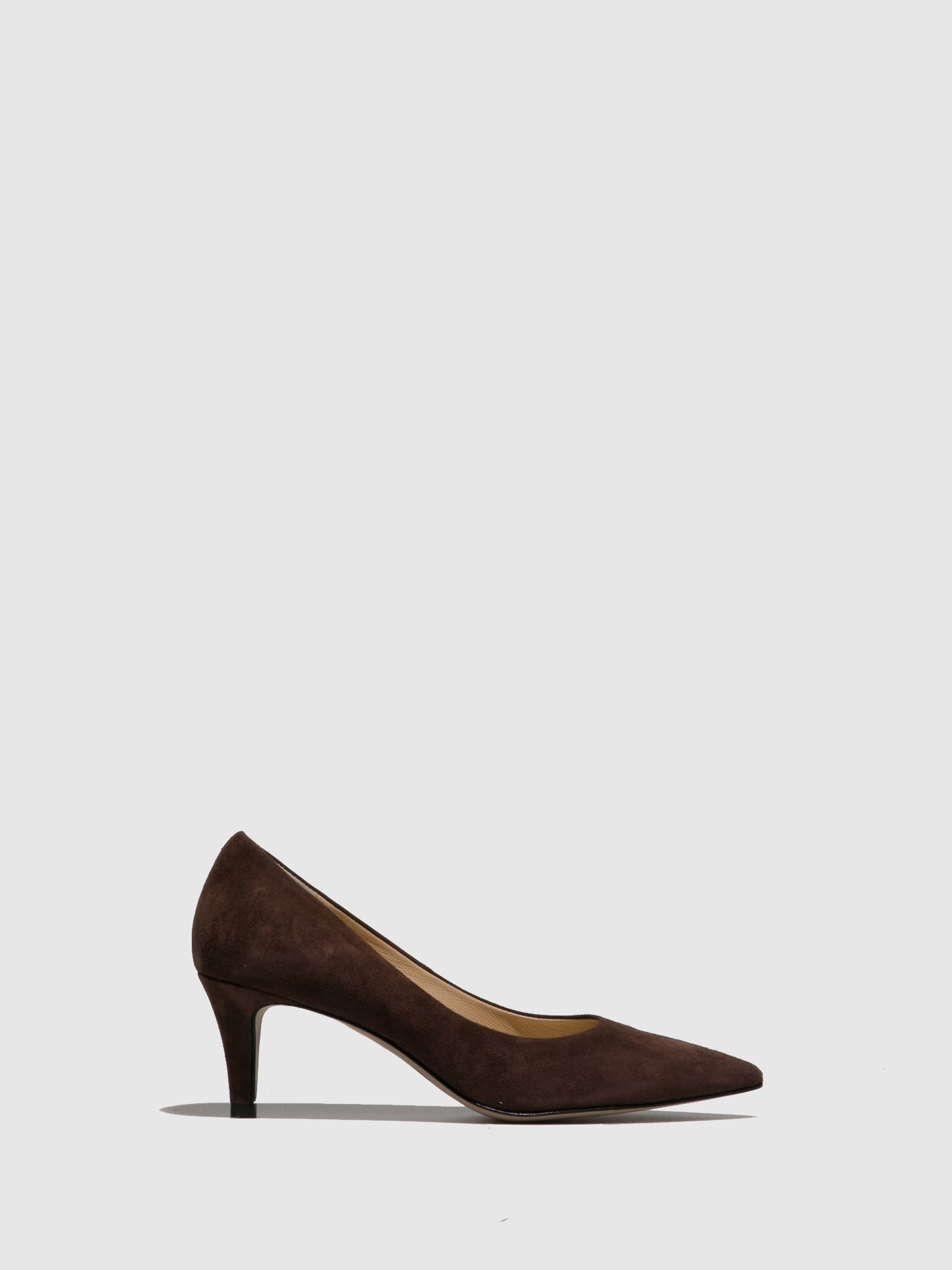 Perlato Brown Pointed Toe Shoes