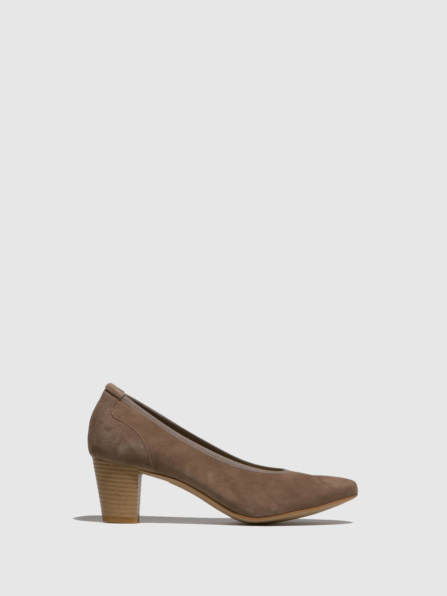 Perlato Taupe Round Toe Shoes