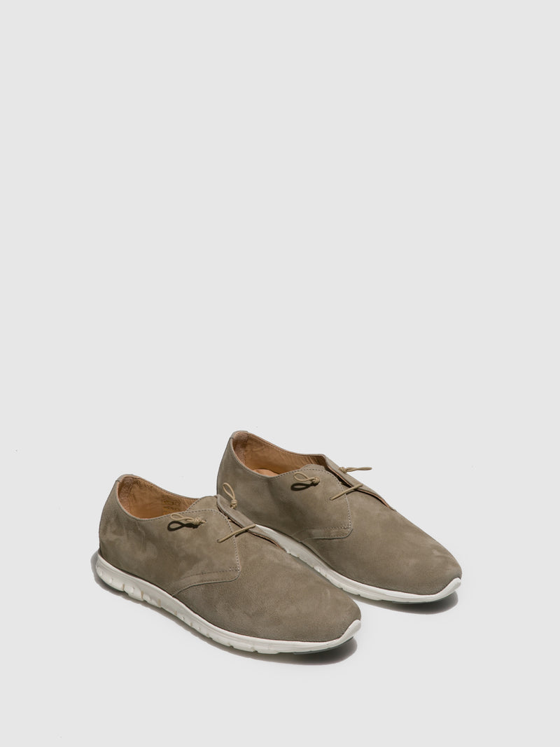 Perlato Khaki Suede Lace-up Trainers