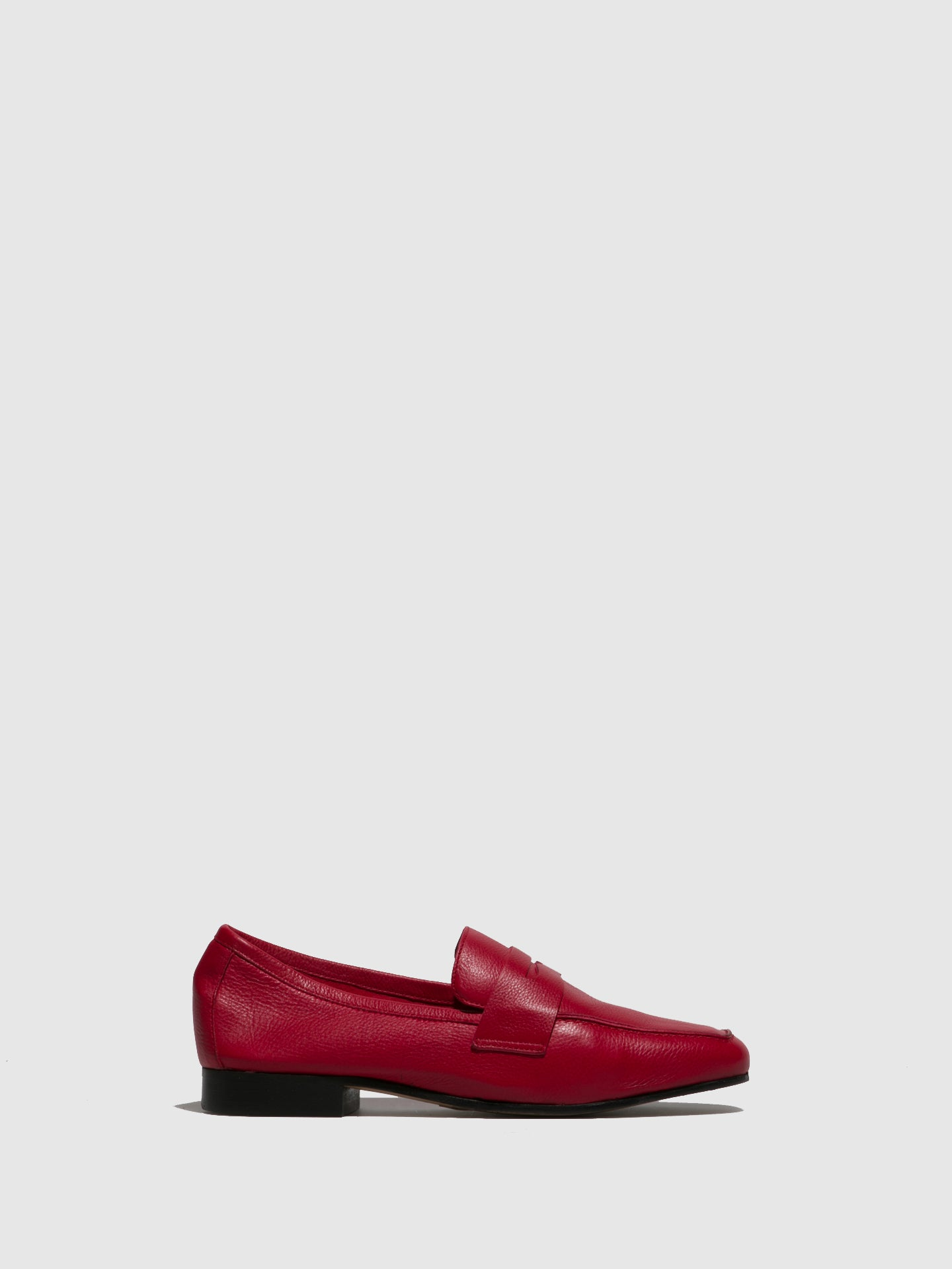 Perlato Red Suede Mocassins Shoes
