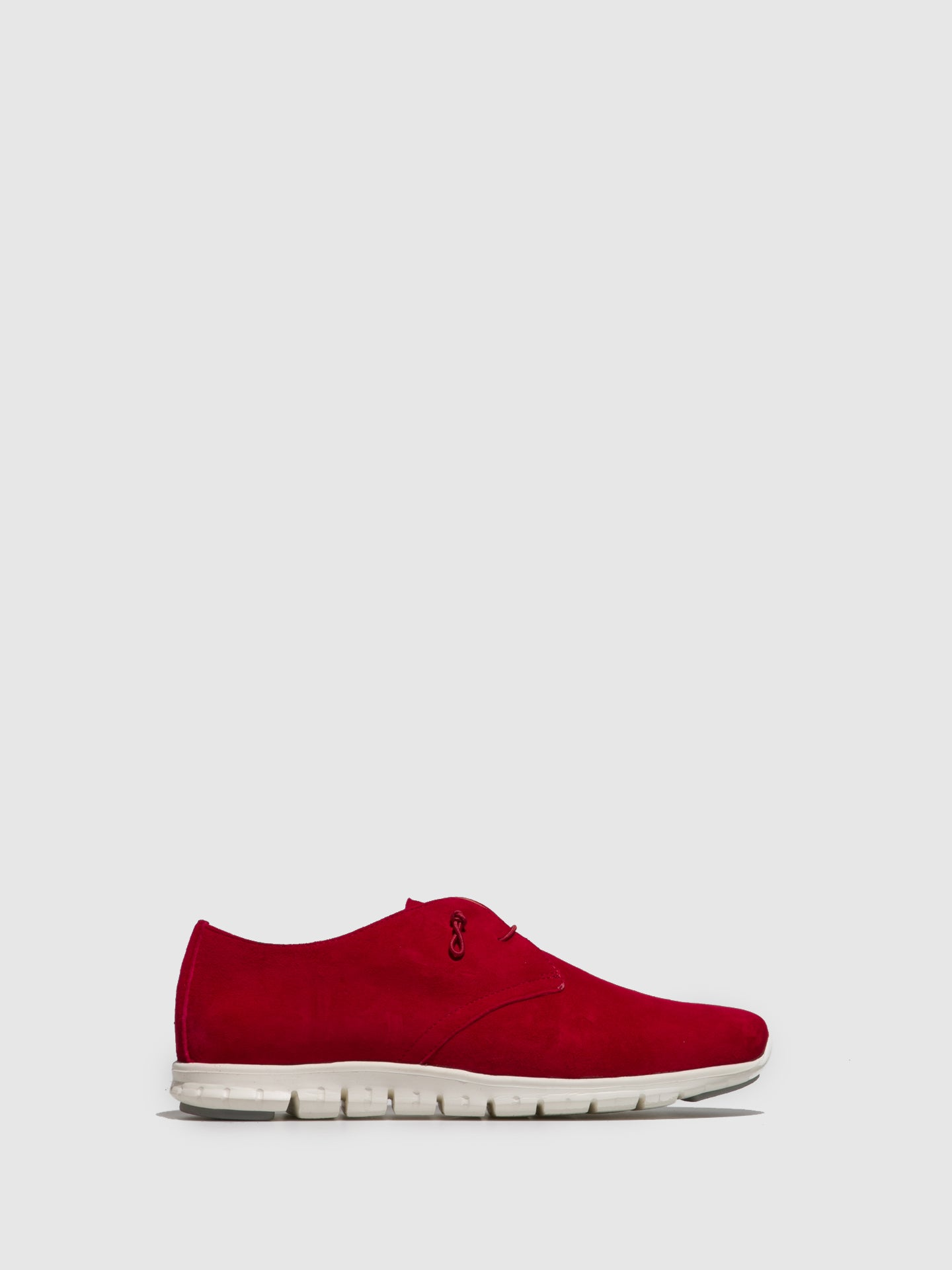 Perlato Red Suede Lace-up Trainers