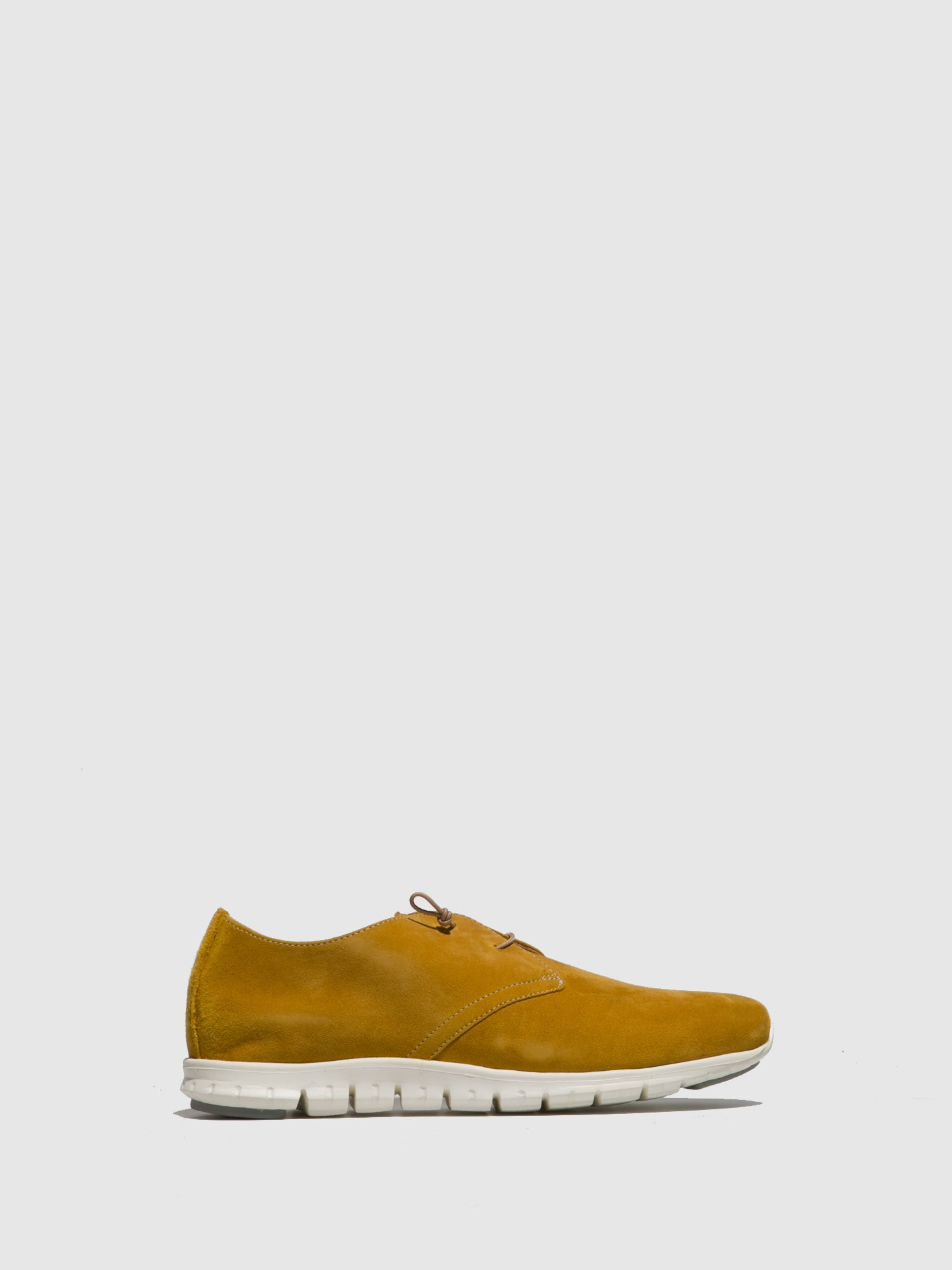 Perlato Yellow Suede Lace-up Trainers