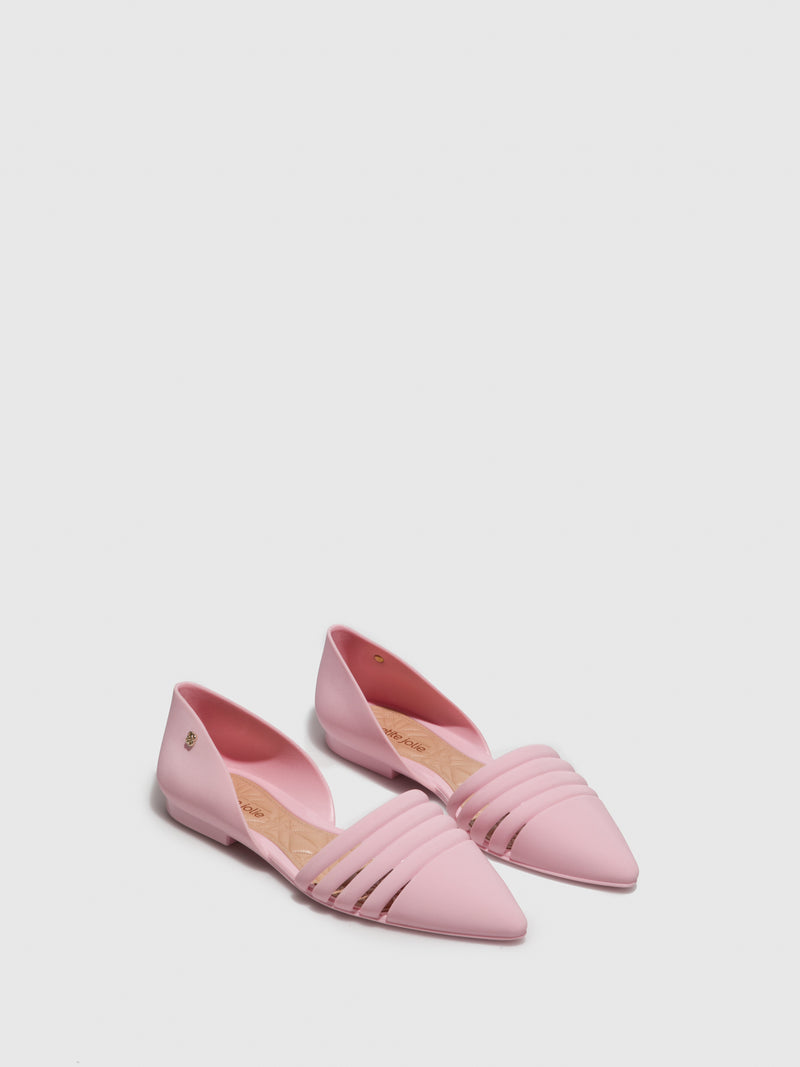 Pink Pointed Toe Ballerinas
