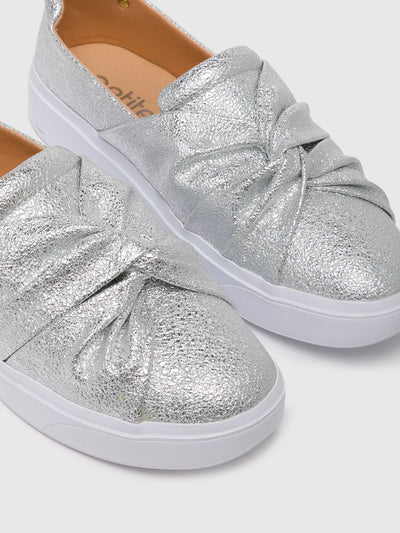 PETITE JOLIE by PARODI Silver Slip-on Trainers