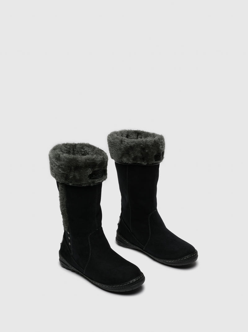 Black Fleece Boots