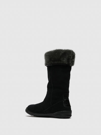 PIXIE Black Fleece Boots