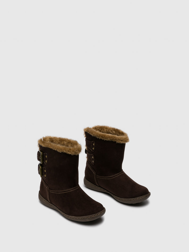 PIXIE Chocolate Fleece Ankle Boots