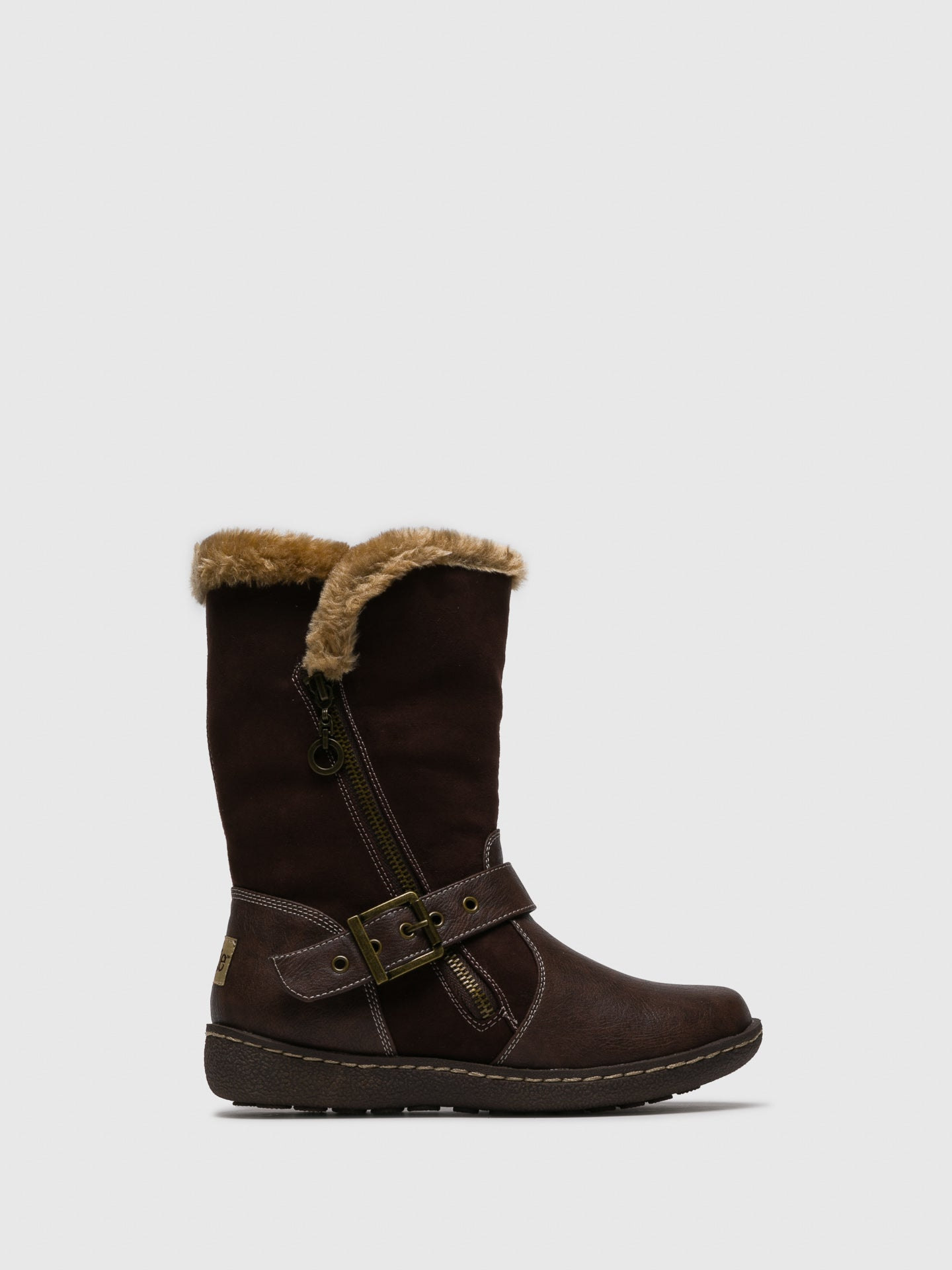 PIXIE Brown Zip Up Boots