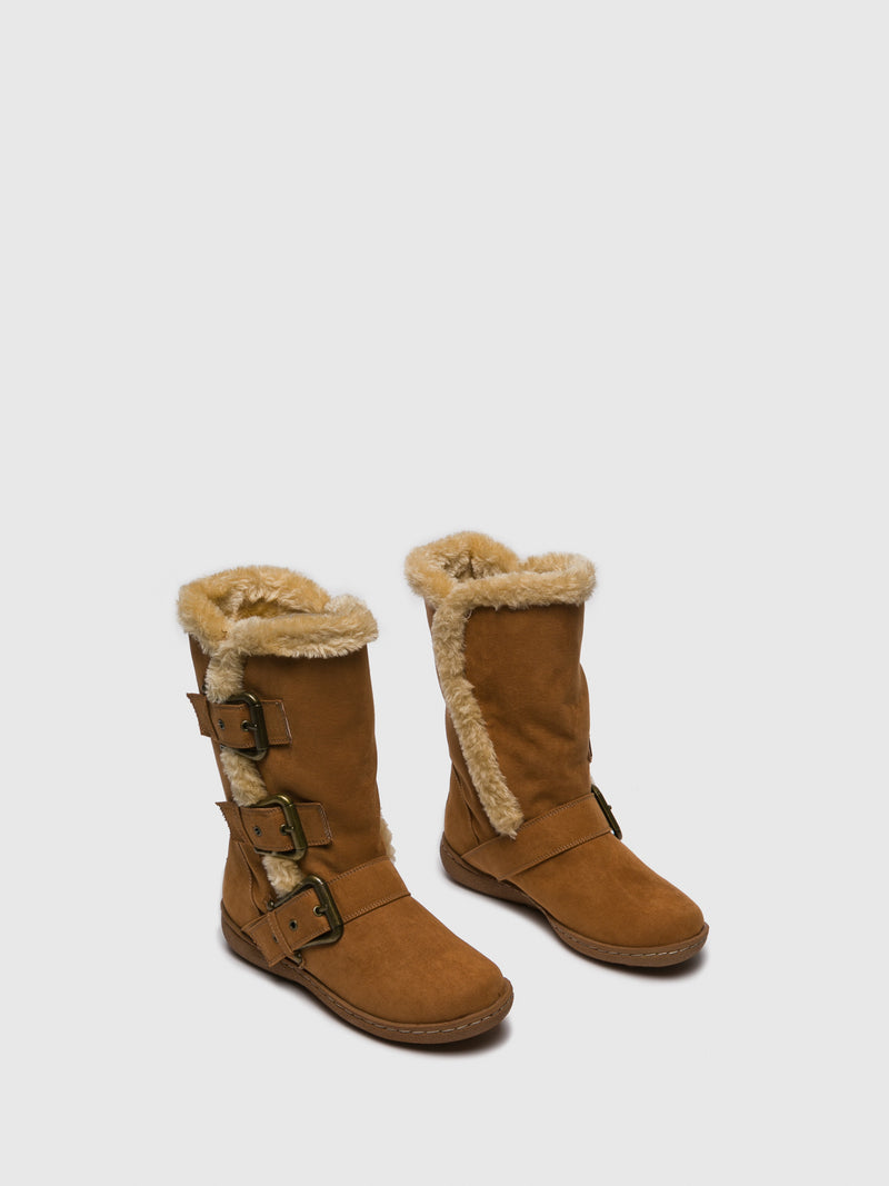 Camel Fleece Boots