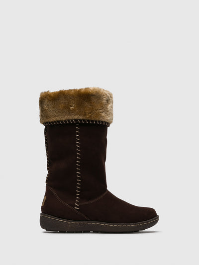 PIXIE Chocolate Fleece Boots