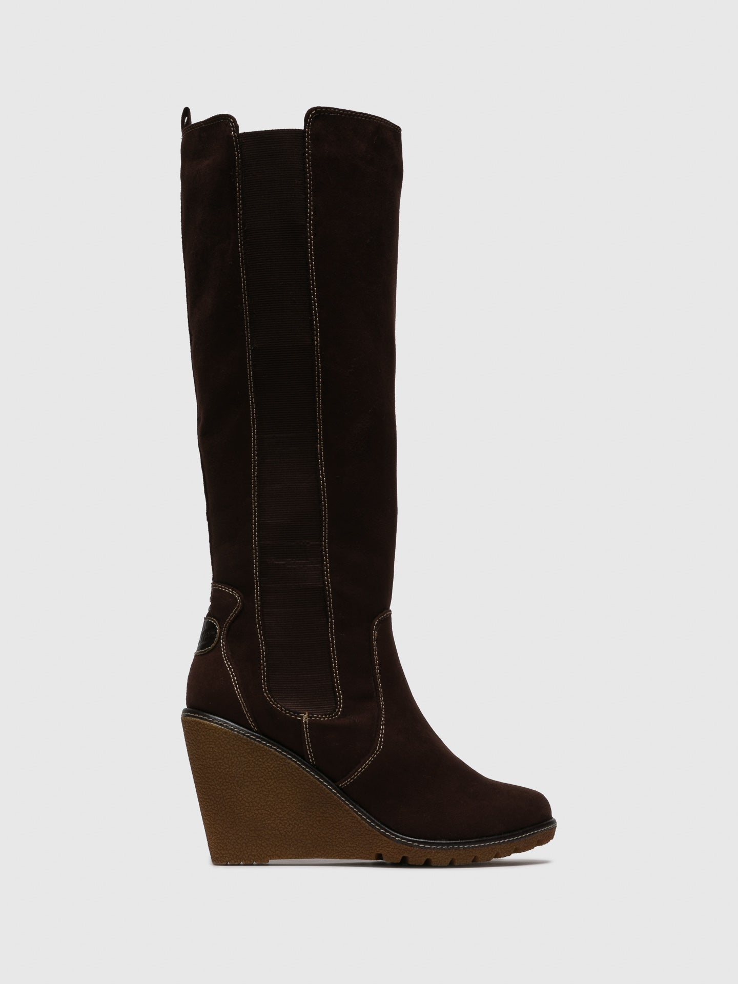 Pixie Chocolate Knee-High Boots