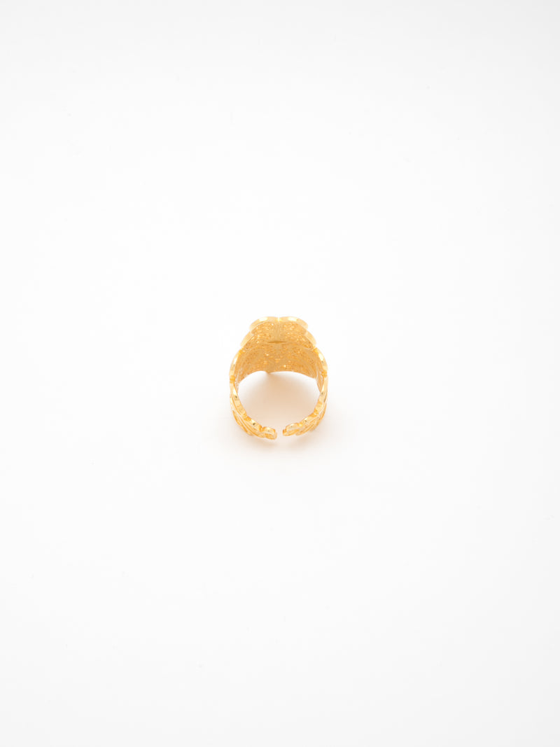Gold Heart of Viana Open Ring