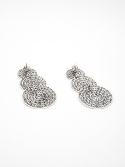 Portugal Jewels Silver Long Earrings