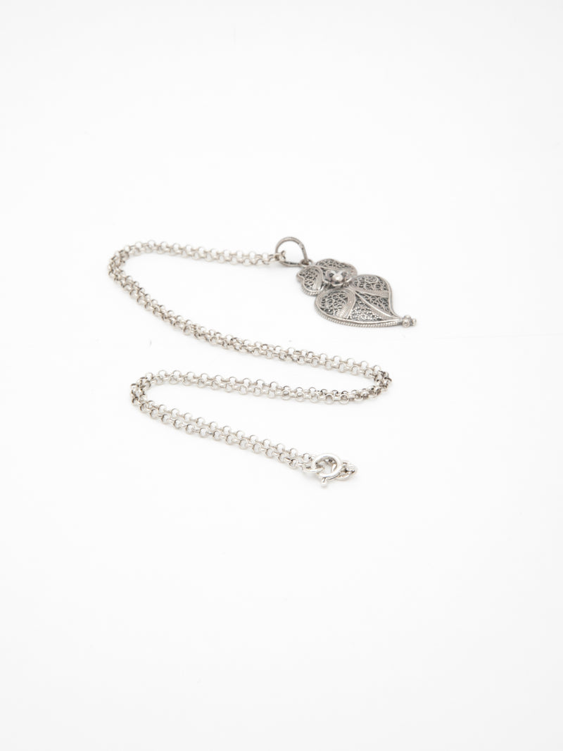 Silver Heart of Viana Pendant Necklace
