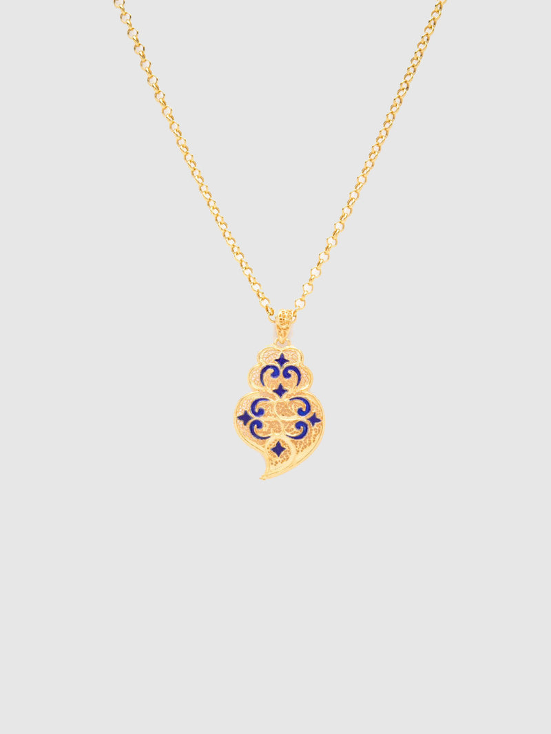 Gold Heart of Viana Pendant Necklace
