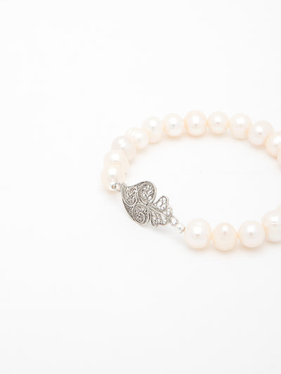 Portugal Jewels Silver Heart of Viana Bracelet