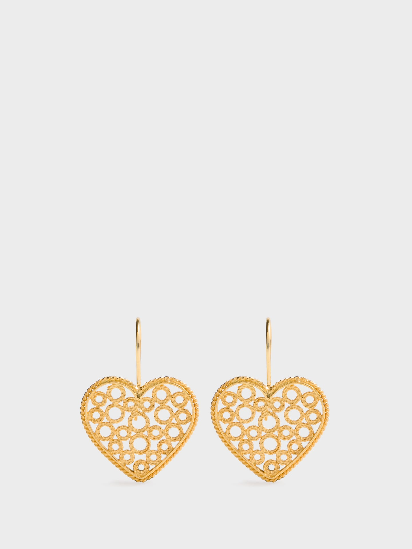 Portugal Jewels Gold Hook Earrings