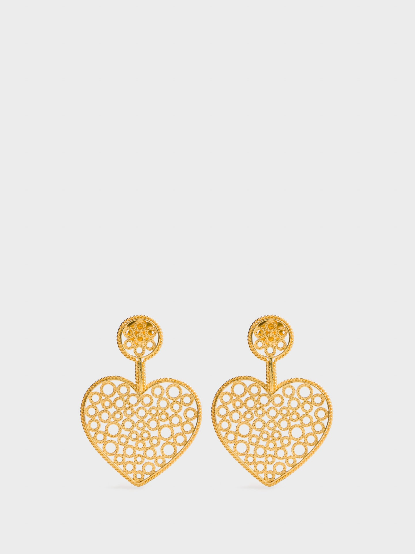 Portugal Jewels Gold Embellished Earrings