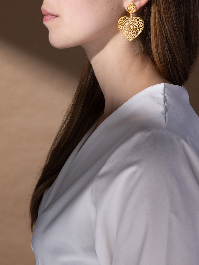 Gold Embellished Earrings
