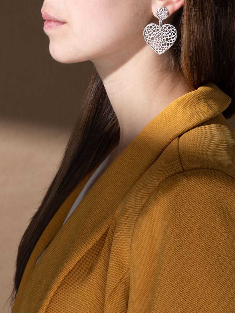 Silver Embellished Earrings