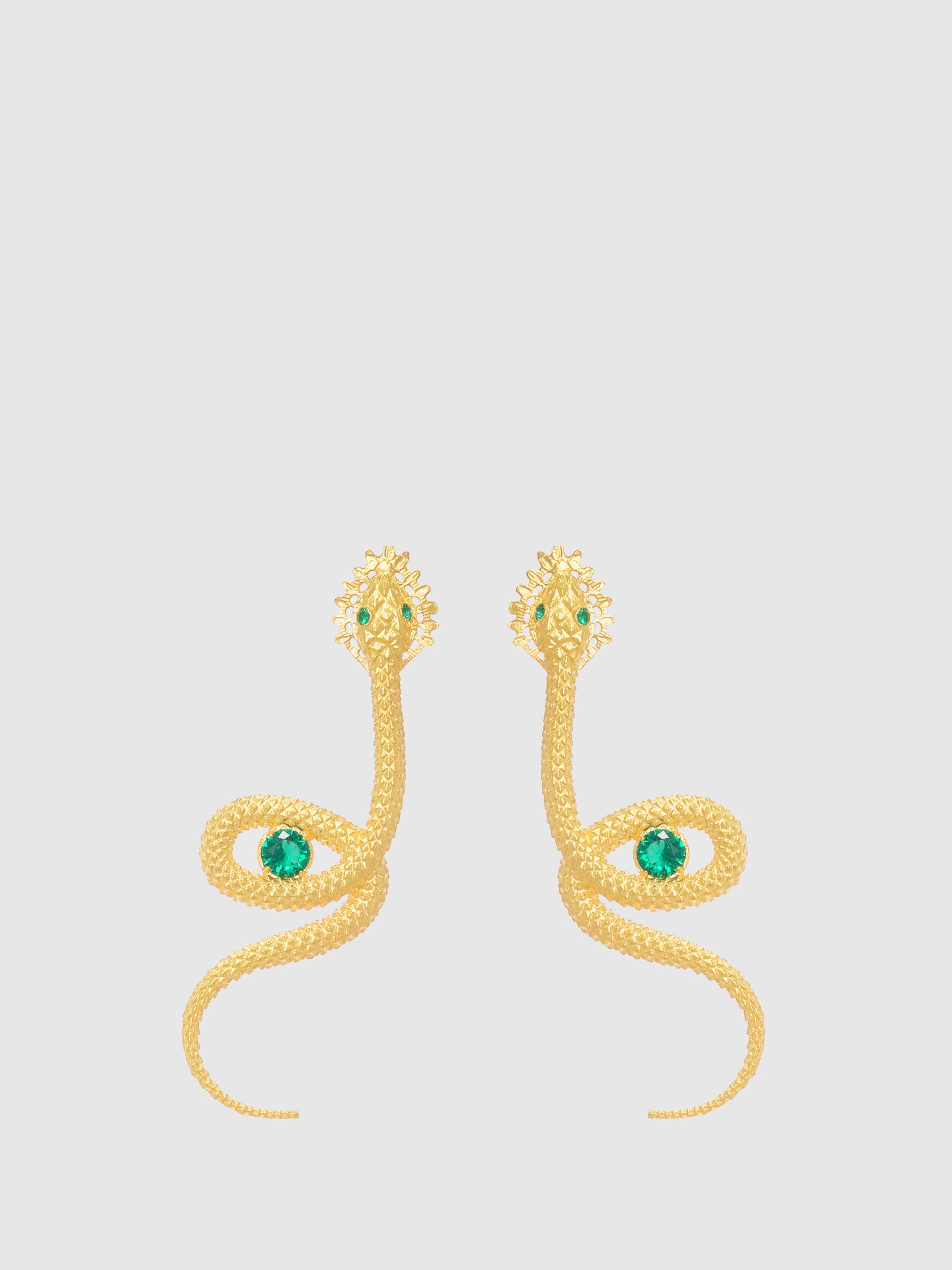 Portugal Jewels Green Snake Long Earrings