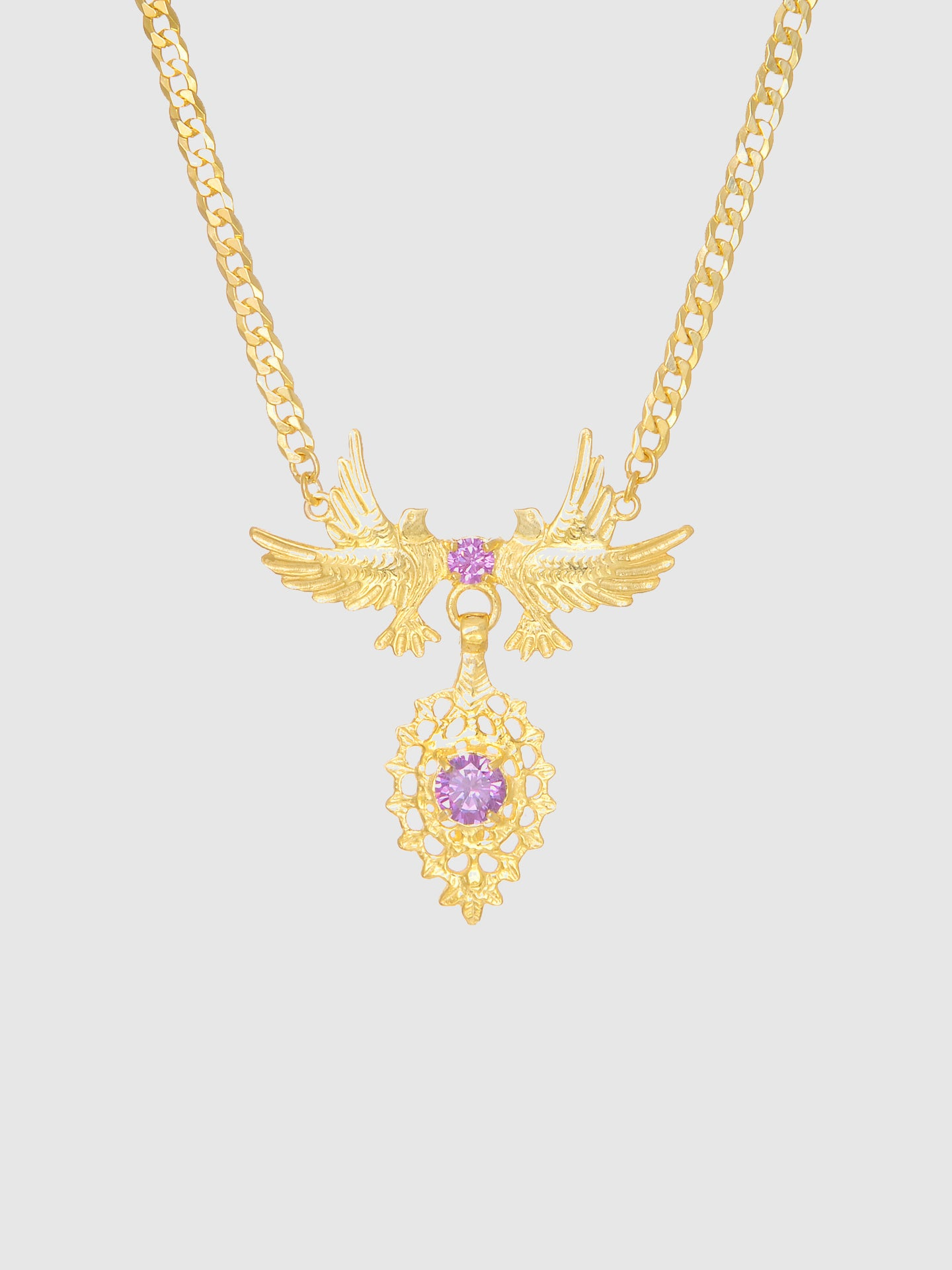 Portugal Jewels Purple Stones Dove Queen Necklace