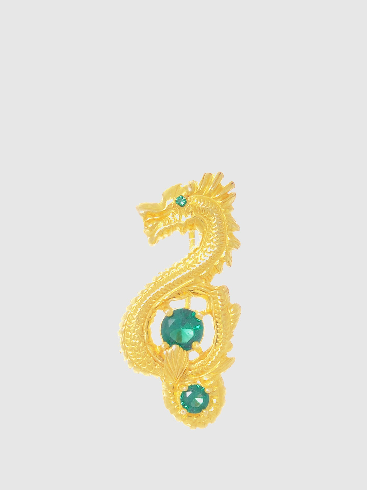 Portugal Jewels Green Bar Dragon Brooch