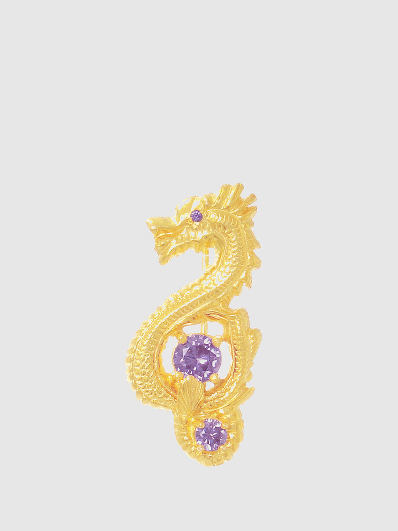 Purple Bar Dragon Brooch