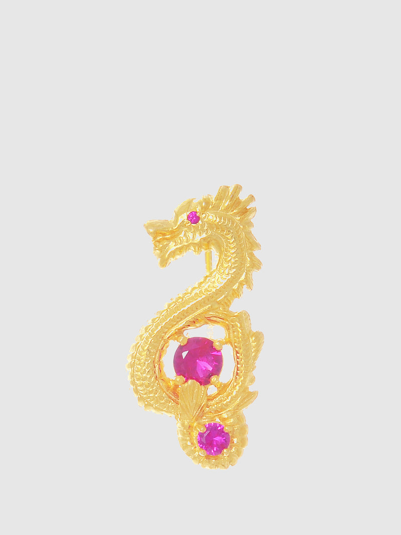 Red Bar Dragon Brooch