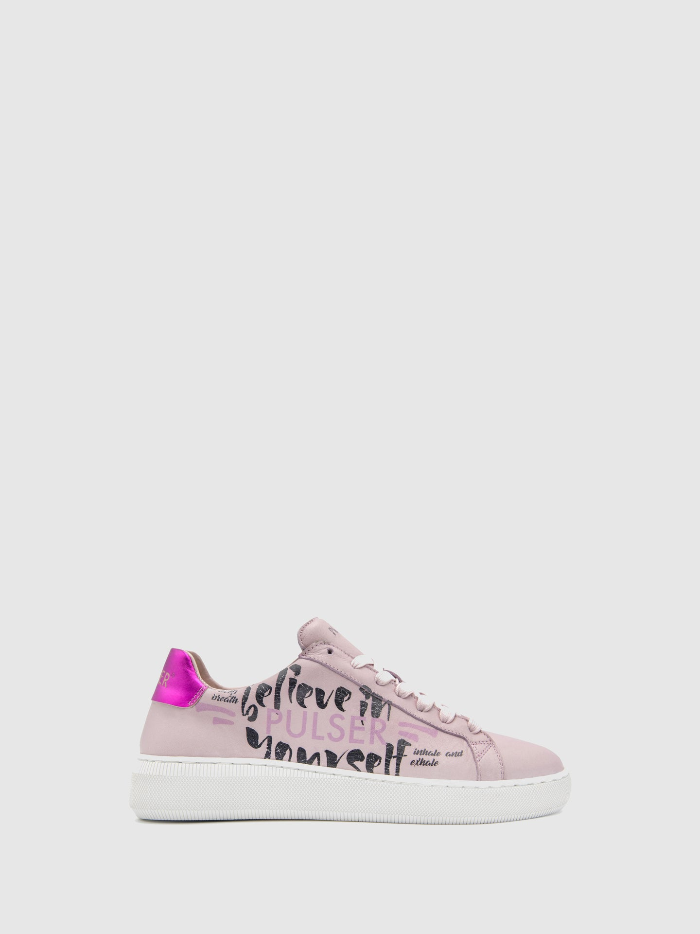 Pulser Shoes Pink Lace-up Trainers