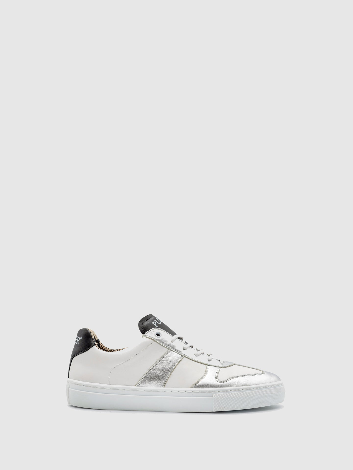 Pulser Shoes White Lace-up Trainers