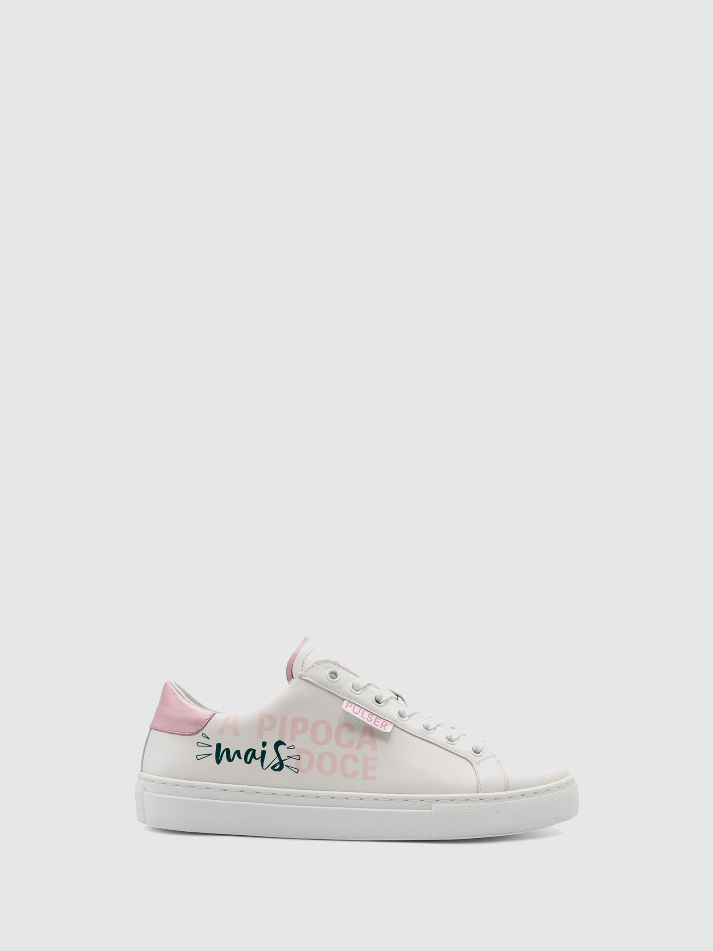 Pulser Shoes Pink White Lace-up Trainers