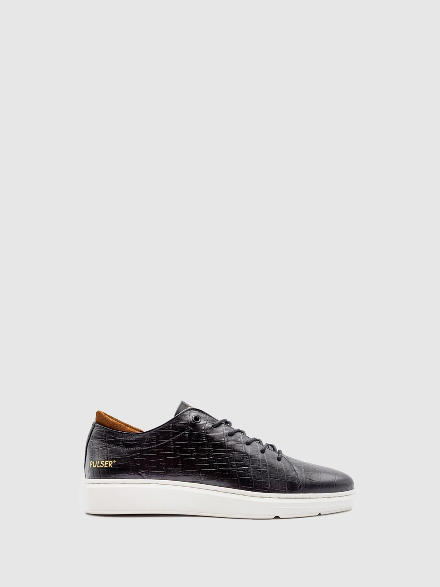 Pulser Shoes Black Lace-up Trainers