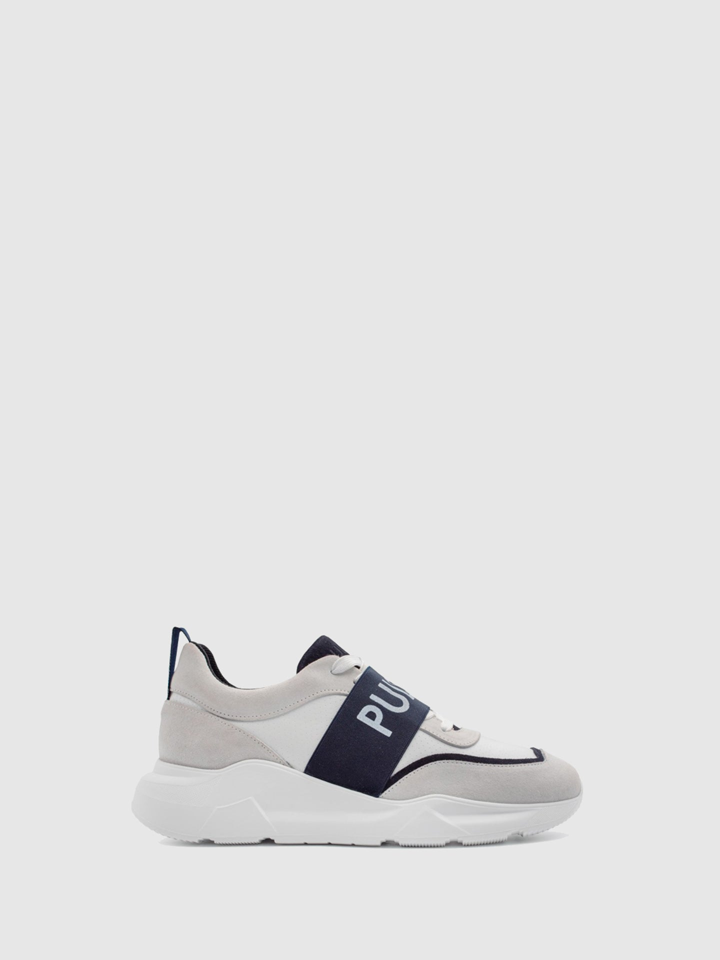 Pulser Shoes Navy Lace-up Trainers
