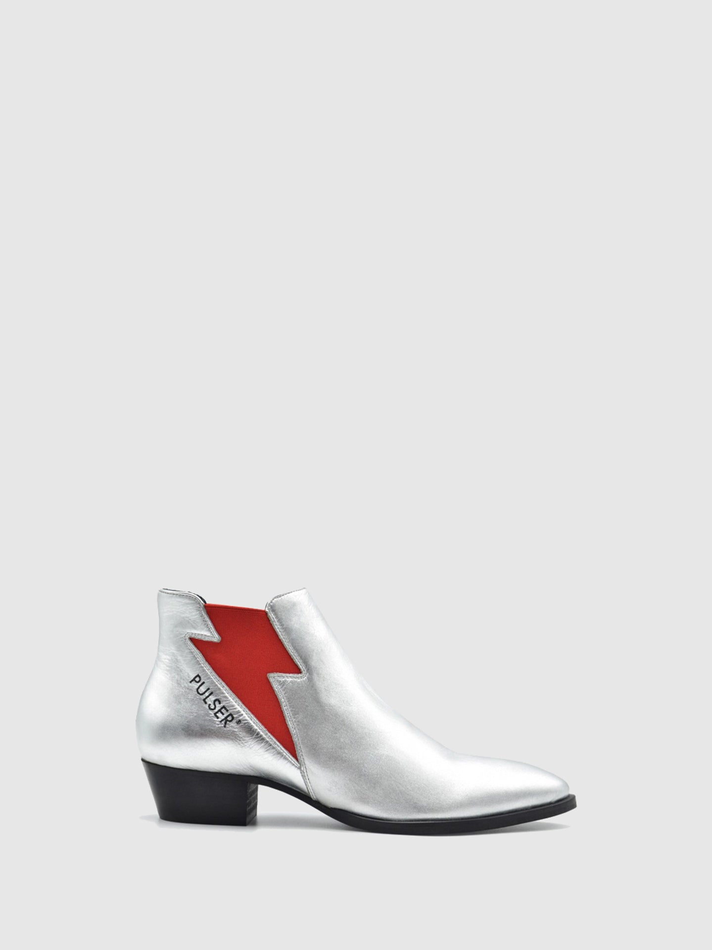 Pulser Shoes Silver Sock Boots