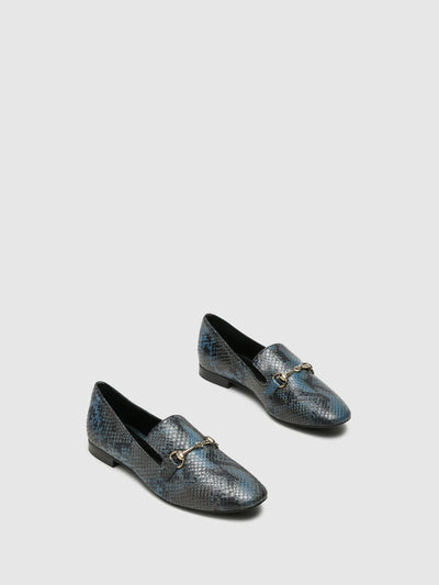 Palazzo VII Blue Mocassins Shoes