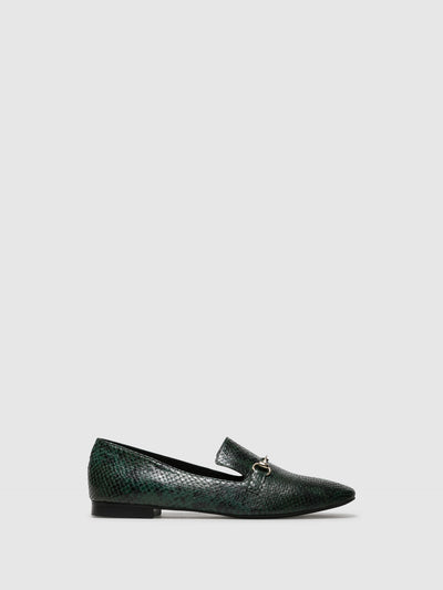 Palazzo VII Green Mocassins Shoes