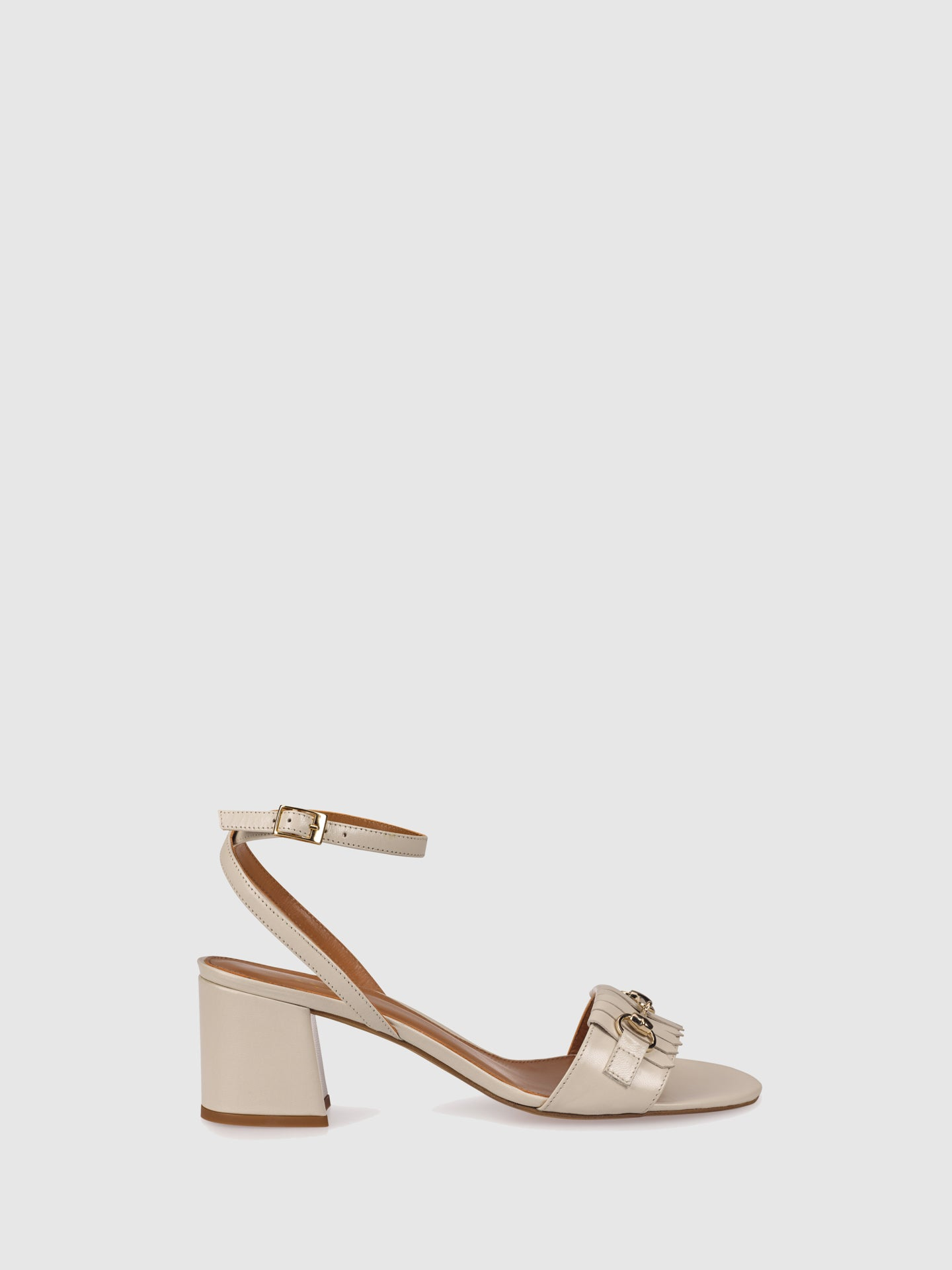 Palazzo VII White Ankle Strap Sandals