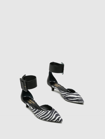 Palazzo VII Black Kitten Heel Shoes