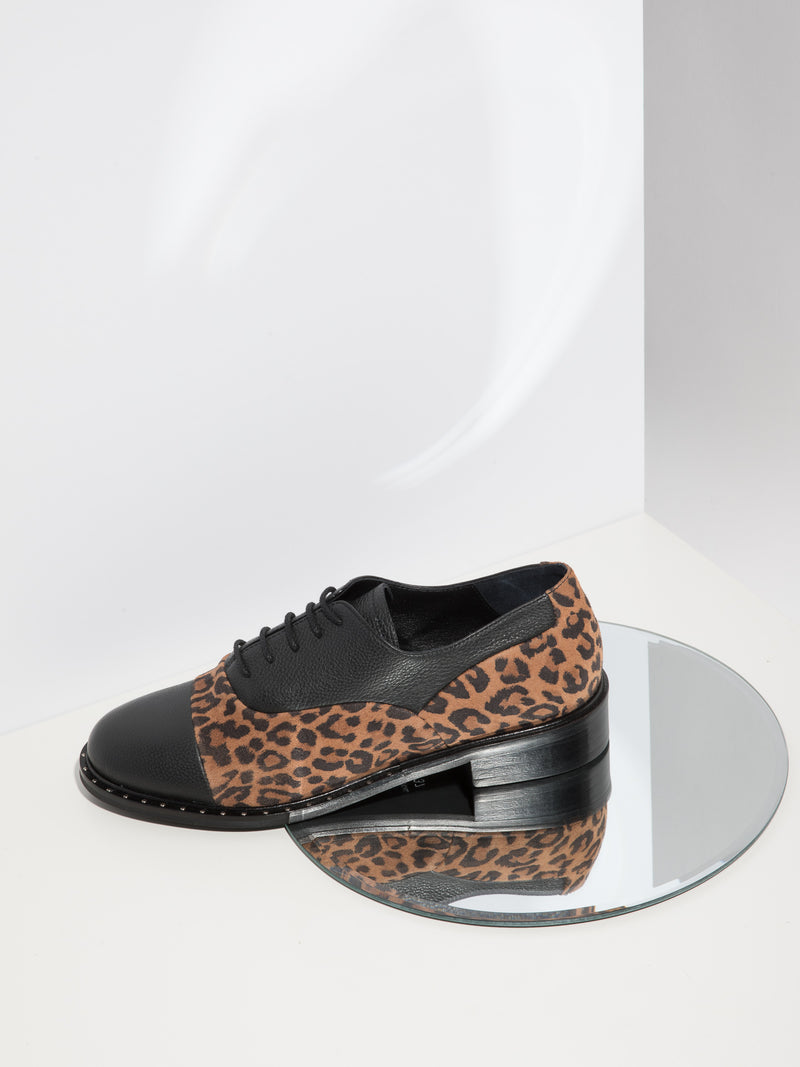 Palazzo VII Black Lace-Up Shoes