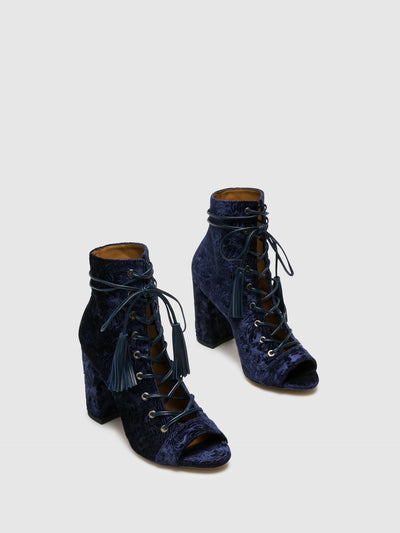Palazzo VII Blue Lace-Up Ankle Boots