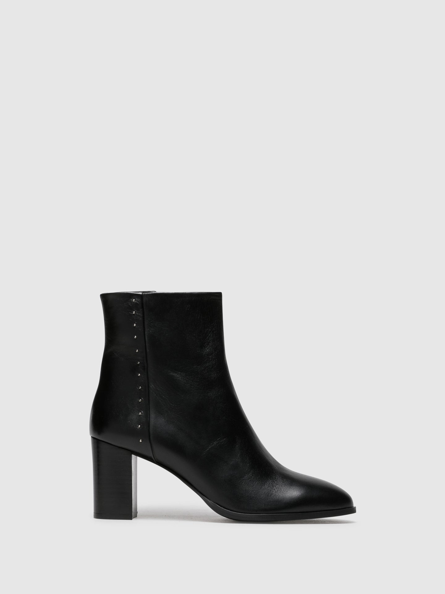 Palazzo VII Black Zip Up Ankle Boots