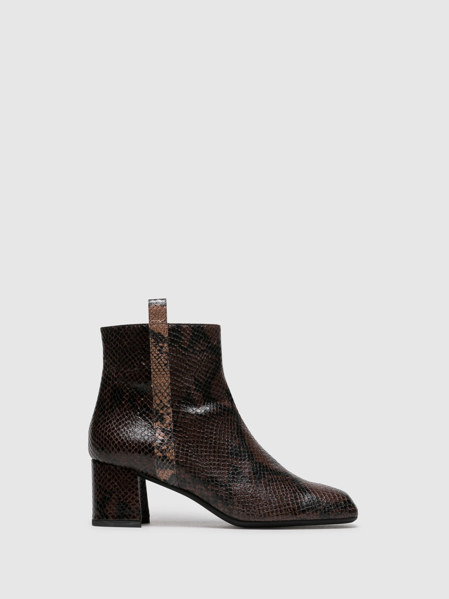 Palazzo VII Brown Zip Up Ankle Boots