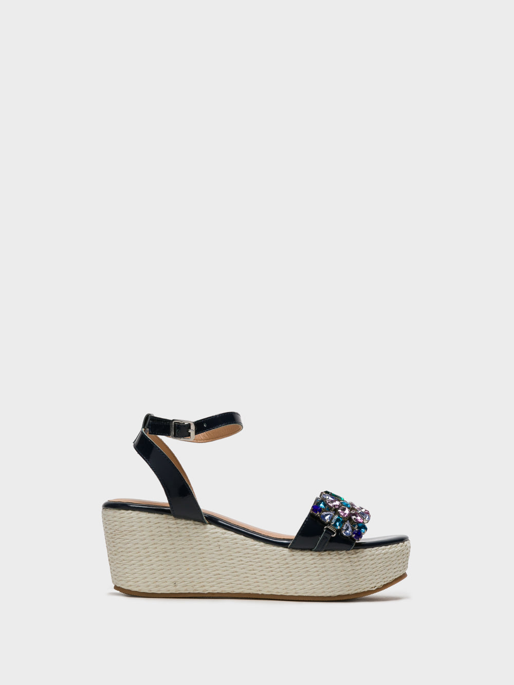 PARODI SUNSHINE Navy Wedge Sandals