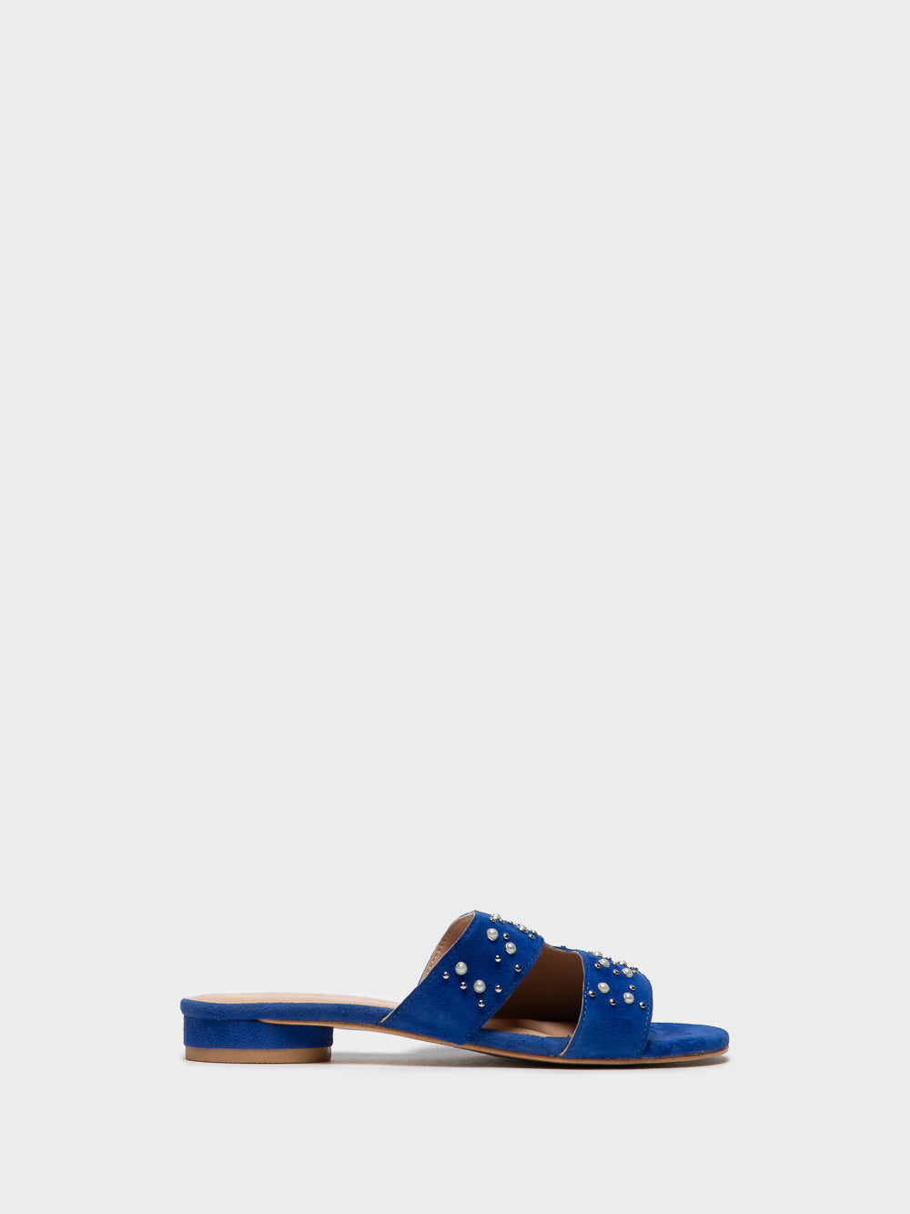 PARODI SUNSHINE Blue Studded Mules