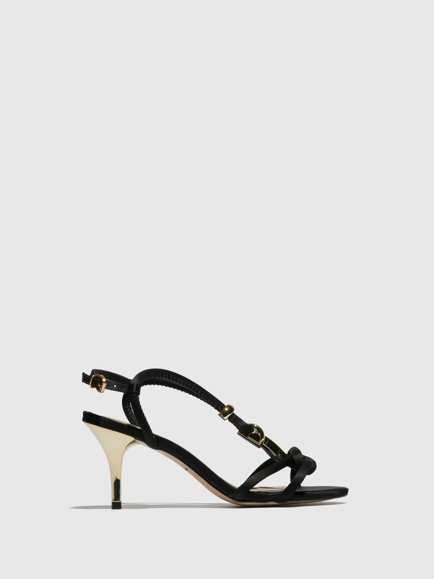 PARODI PASSION Black T-Strap Sandals