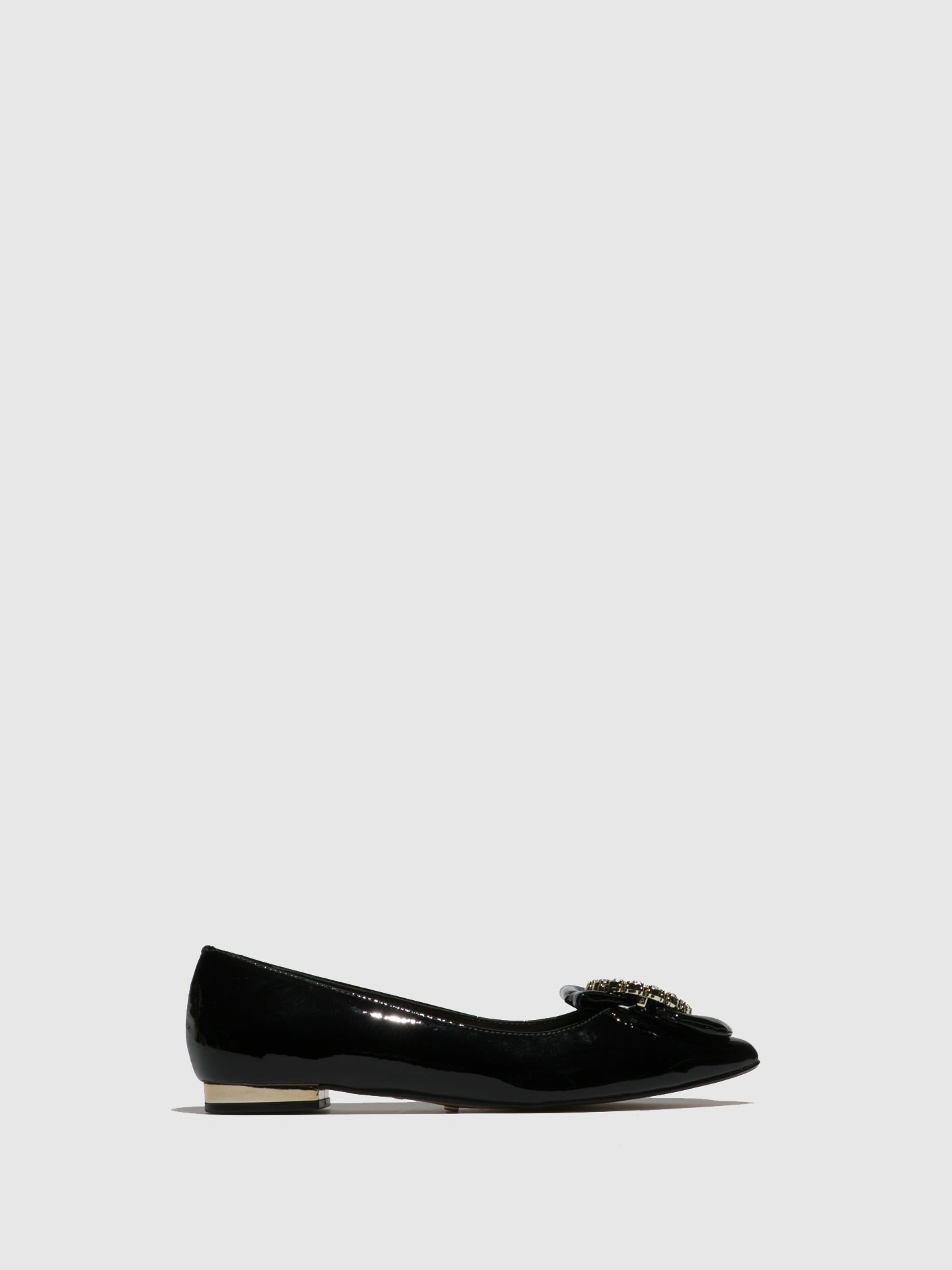 Parodi Passion Black Flat Shoes