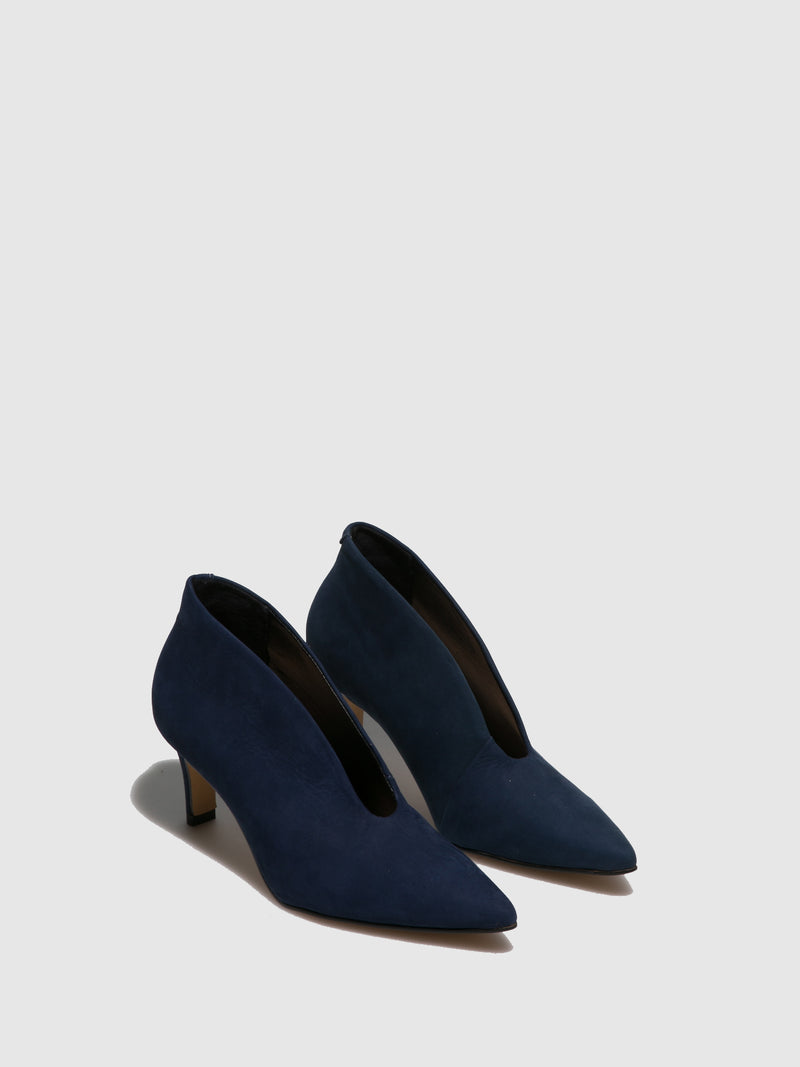 Parodi Passion Navy Pointed Toe Shoes